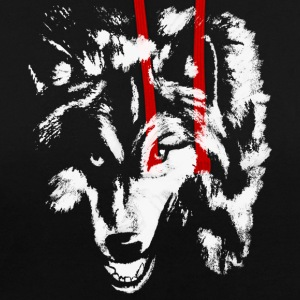 Le loup blanc - Sweat-shirt contraste