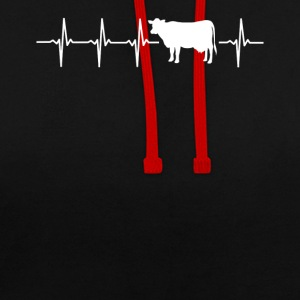 I Love Cows Gift Idea - Order Here - Contrast Colour Hoodie