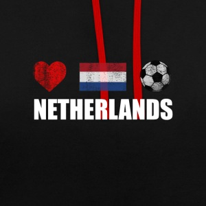 Netherlands Football Netherlander or Dutch Soccer - Contrast Colour Hoodie