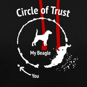Funny Beagle Shirt - Circle of Trust - Contrast Colour Hoodie