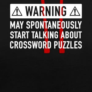 Funny Crossword Puzzle Gift Idea - Contrast Colour Hoodie