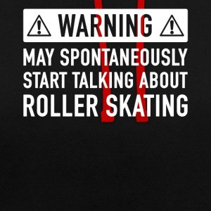 Funny Roller Skate Gift Idea - Contrast Colour Hoodie