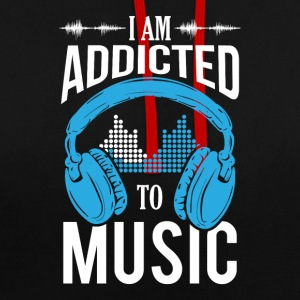 I Am Addicted To Music - Contrast Colour Hoodie