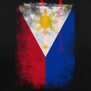 Philippines Drapeau philippin fier Distressed Vintage - Sweat-shirt contraste