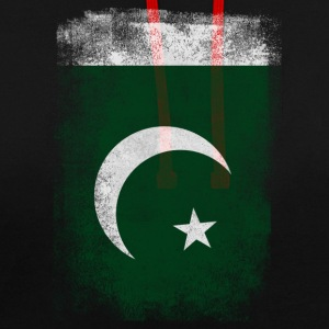 Pakistan-Flagge Proud Pakistan Vintage Distressed Sh - Kontrast-Hoodie