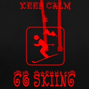 GO_SKIING - Contrast Colour Hoodie