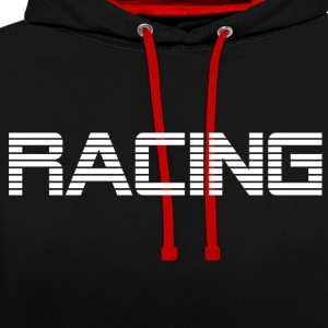 RACING - RACE DRIVING - Contrast Colour Hoodie