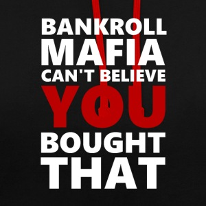 BANKROLLWHITERED - Sweat-shirt contraste