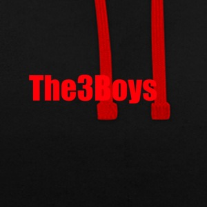 The3Boys Merchandise - Bluza z kapturem z kontrastowymi elementami