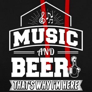 music AND BEER - Kontrast-Hoodie