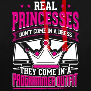 REAL PRINCESSES programmer - Contrast Colour Hoodie