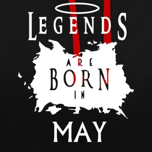 Legend May birthday - Contrast Colour Hoodie