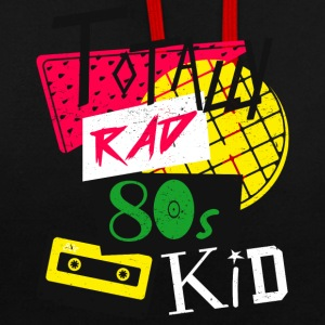 Totally Rad 80s Kid - Contrast Colour Hoodie