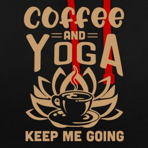 Coffee And Yoga Keep Me Going - Contrast Colour Hoodie