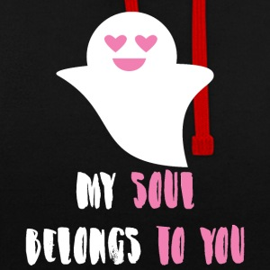 Halloween: My Soul Belongs To You - Contrast Colour Hoodie