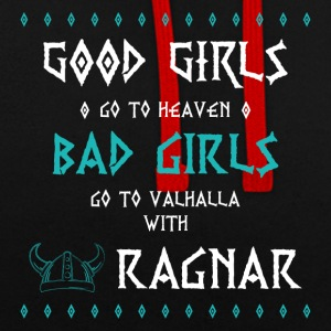 bad girls - Bluza z kapturem z kontrastowymi elementami