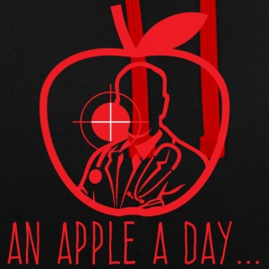 Doctor / Health Practitioner: An Apple A Day Keeps The Doctor - Contrast Colour Hoodie