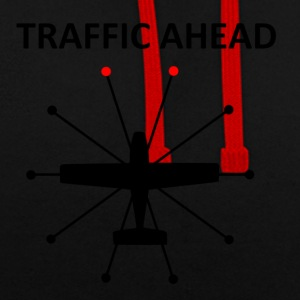 Traffic Ahead - Collision - Contrast Colour Hoodie