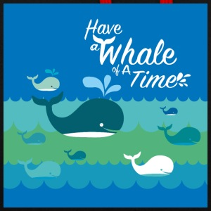 Have a Whale of a time - Contrast Colour Hoodie