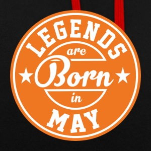 Legends may born birthday gift birth - Contrast Colour Hoodie