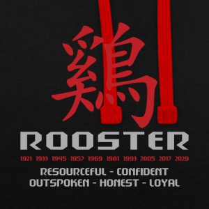 Chinese Year of The Rooster Years Characteristics - Contrast Colour Hoodie