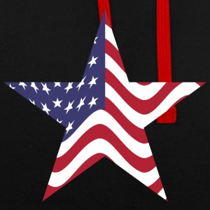 Star America United States - Contrast Colour Hoodie