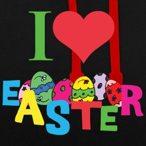 I Love Easter - Contrast Colour Hoodie