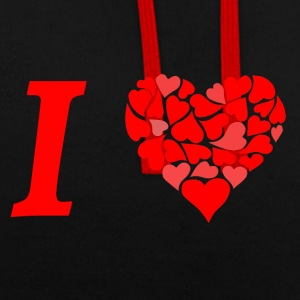 I love I love in Love - Sweat-shirt contraste