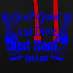 DONT DRINK AND DRIVE blau - Kontrast-Hoodie