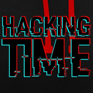 HACKING TIME HACKER - Kontrast-Hoodie