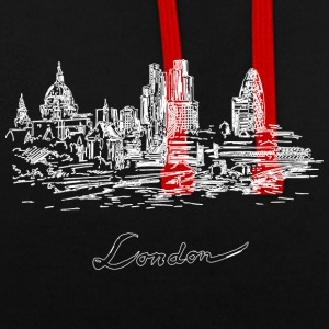 London City - Großbritannien - Kontrast-Hoodie