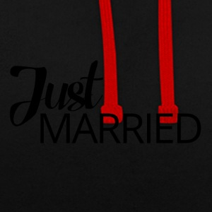 Hochzeit / Heirat: Just Married - Kontrast-Hoodie