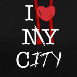 i love my city - Contrast Colour Hoodie