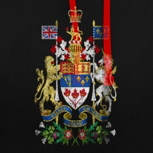 Canadian Coat of Arms Canada Symbol - Contrast Colour Hoodie