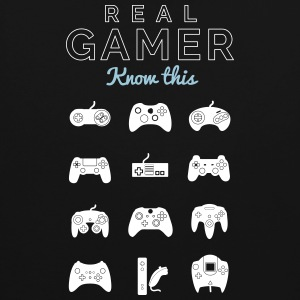 Real gamer for real gamers - Contrast Colour Hoodie