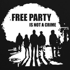 Free party is not a crime - Contrast Colour Hoodie