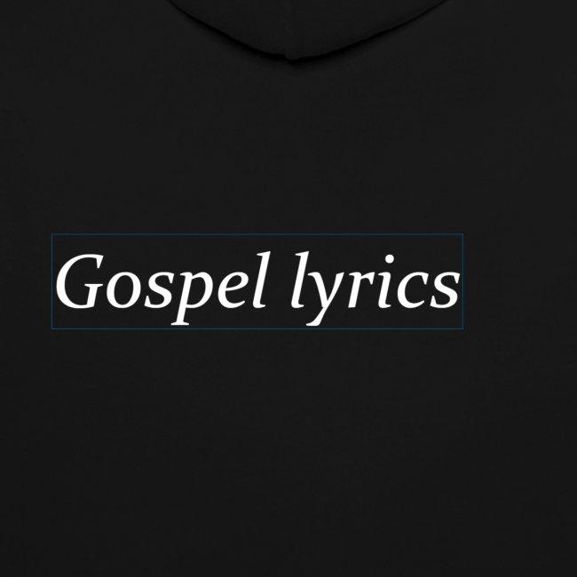 gospellyrics white lettered
