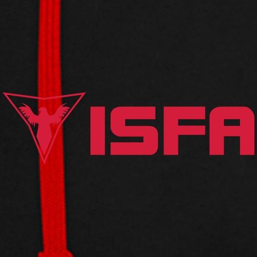 ISFA Quer - Kontrast-Hoodie