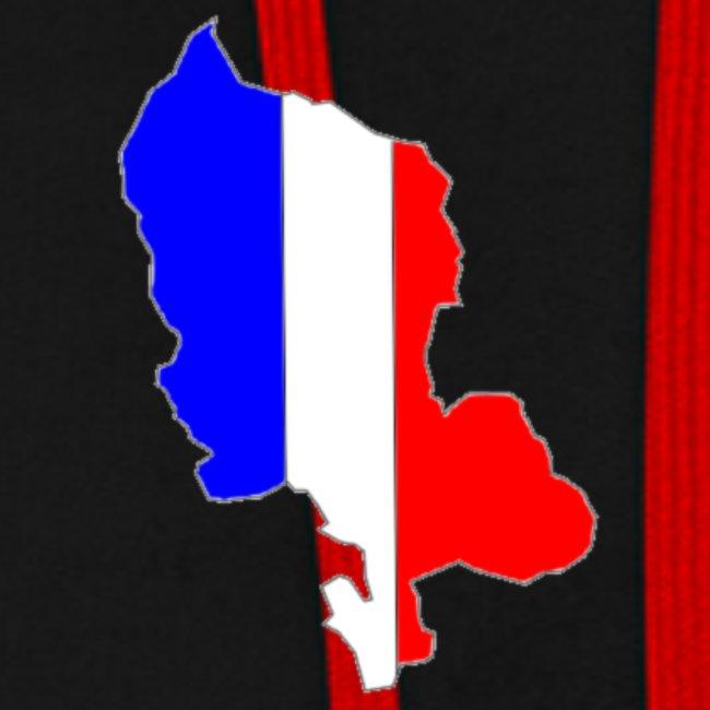 Carte Territoire de Belfort bleu blanc rouge