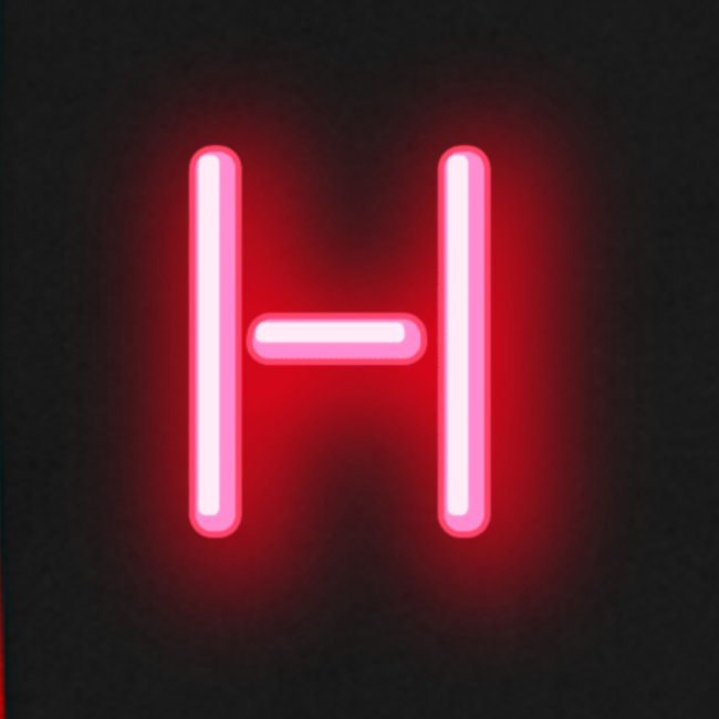 H Red Neon