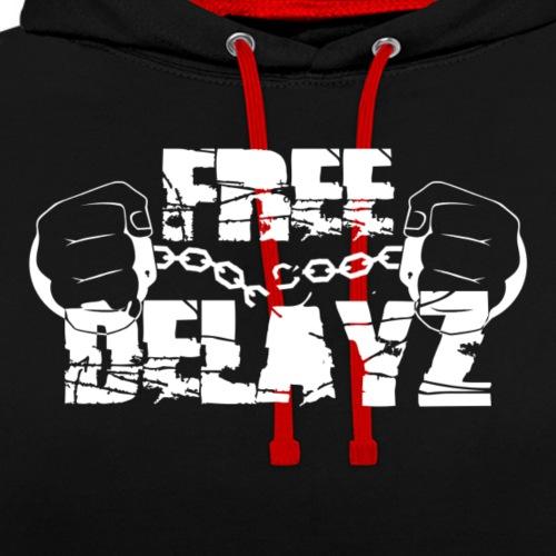 Free Delayz weiß - Kontrast-Hoodie