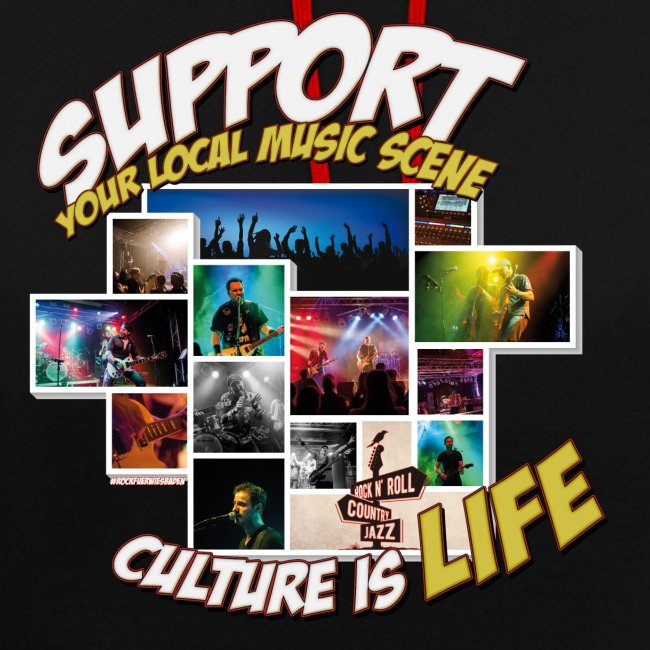 Support local music scene - Aktions-Shirt V2