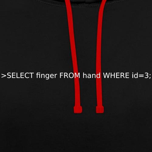 select-finger - Kontrast-Hoodie