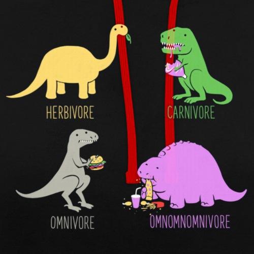 omnomomnivore png - Contrast Colour Hoodie