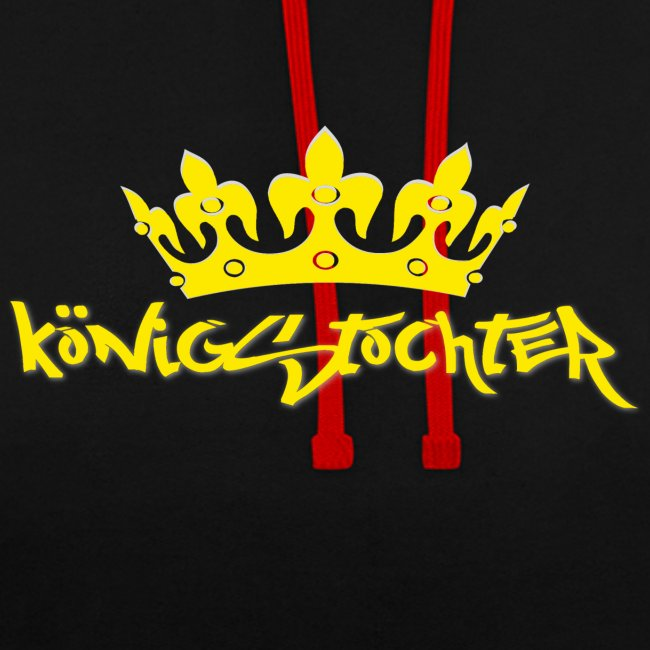 Königstochter m. Krone über der stylischen Schrift