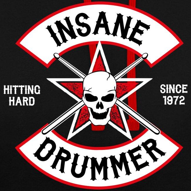 Insane Drummer - Bikerlogo - Hitting Hard