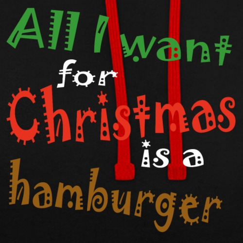Al wat ik wil voor kerstmis is een hamburger