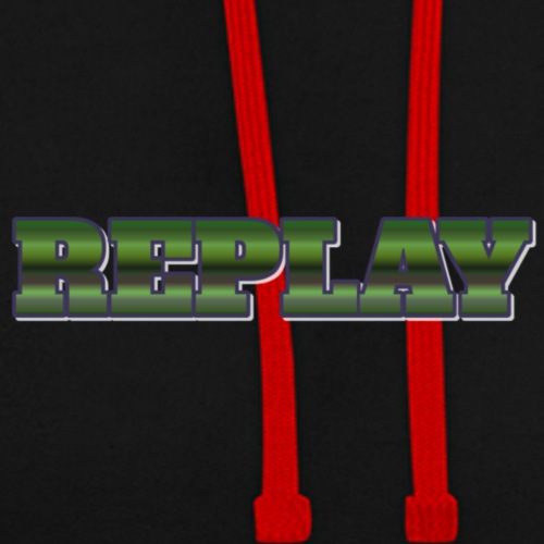 Official Merch 'REPLAY' Brand - Contrast Colour Hoodie