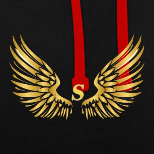 S GOLD B - Contrast hoodie
