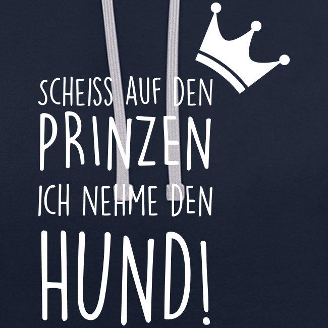Vorschau: Prinz Hund - Kontrast-Hoodie